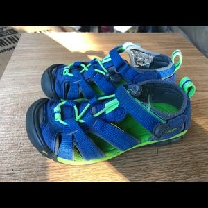 Keen Kids Blue Hiking Sport Sandals Size 11